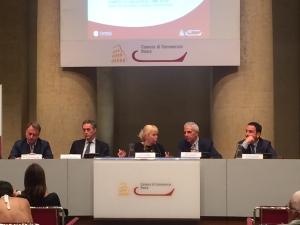 Confcommercio Antonella ciuffini moderatrice evento